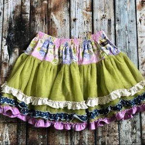 Matilda Jane Floral Print Ruffle Short Shirt